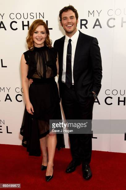 Actress Holliday Grainger and Actor Sam Claflin attend the World premiere of My Cousin Rachel at Picturehouse Central on June 7 2017 in London United...