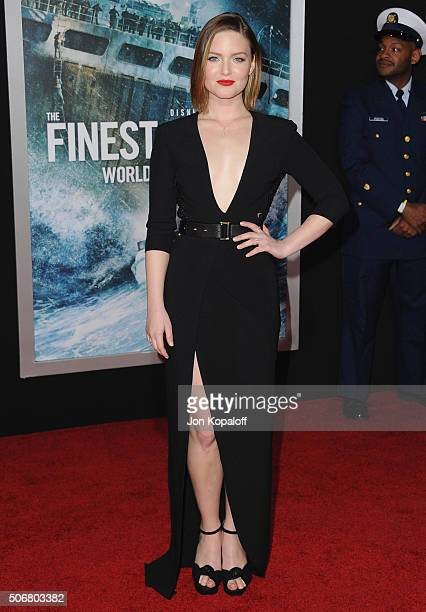 Actress Holliday Grainger arrives at the Los Angeles Premiere The Finest Hours at TCL Chinese Theatre on January 25 2016 in Hollywood California