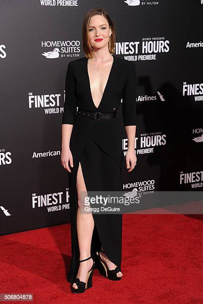 Actress Holliday Grainger arrives at the premiere of Disney's The Finest Hours at TCL Chinese Theatre on January 25 2016 in Hollywood California