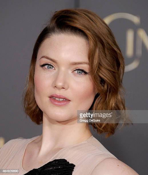 Actress Holliday Grainger arrives at the World Premiere of Disney's Cinderella at the El Capitan Theatre on March 1 2015 in Hollywood California