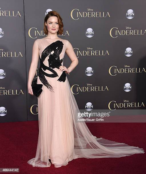 Actress Holliday Grainger arrives at the World Premiere of Disney's 'Cinderella' at the El Capitan Theatre on March 1 2015 in Hollywood California