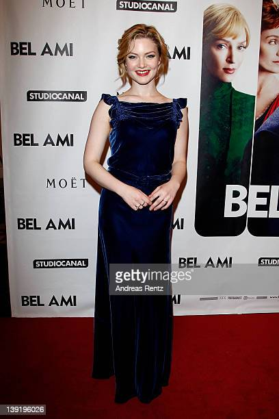 Actress Holliday Grainger attend the Bel Ami Party during day nine of the 62nd Berlinale International Film Festival at Meistersaal on February 17...