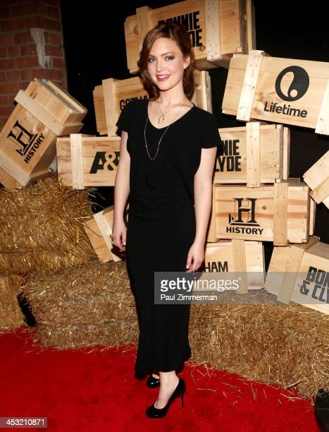 Actress Holliday Grainger attends the Bonnie And Clyde series premiere at The McKittrick Hotel on December 2 2013 in New York City