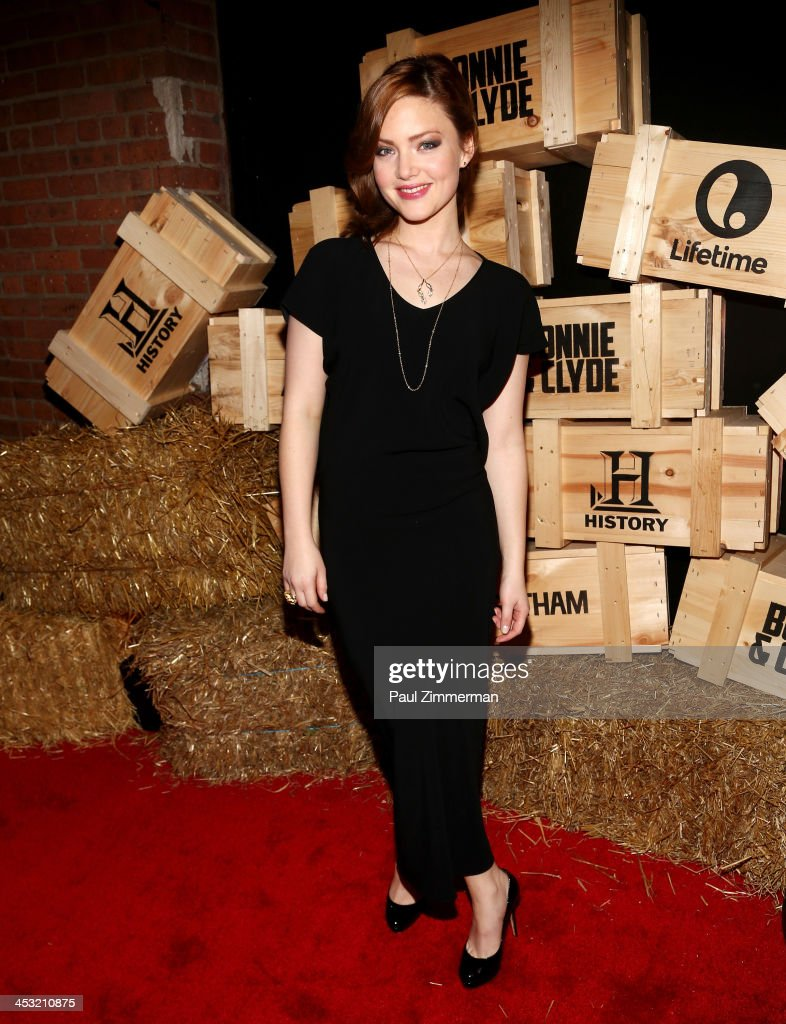 Actress Holliday Grainger attends the 'Bonnie And Clyde' series premiere at The McKittrick Hotel on December 2, 2013 in New York City.
