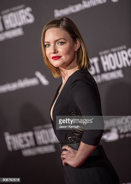 Actress Holliday Grainger attends the premiere of Disney's The Finest Hours at TCL Chinese Theatre on January 25 2016 in Hollywood California