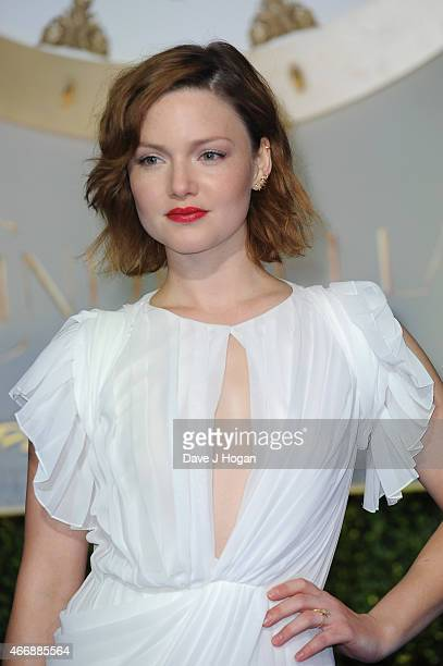 Actress Holliday Grainger attends the UK Premiere of Cinderella at Odeon Leicester Square on March 19 2015 in London England