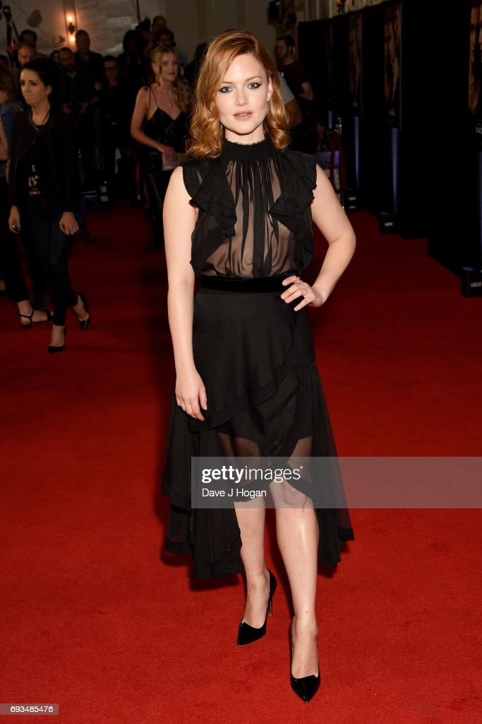 Actress Holliday Grainger attends the World premiere of 'My Cousin Rachel' at Picturehouse Central on June 7, 2017 in London, United Kingdom.