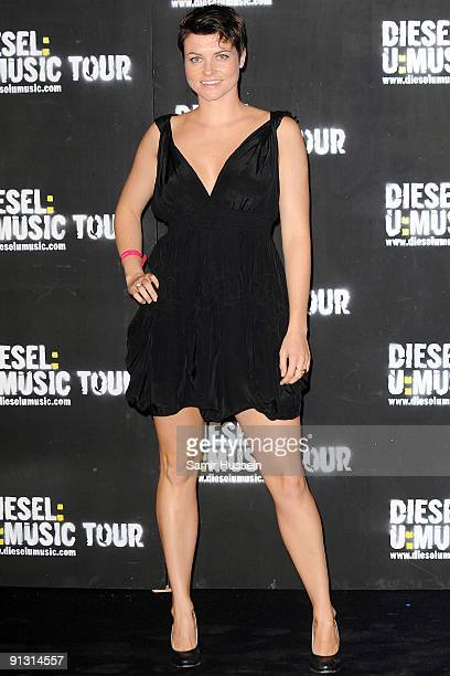 Actress Holly Davidson arrives at the DieselUMusic World Tour Party held at the University of Westminster on October 1 2009 in London England