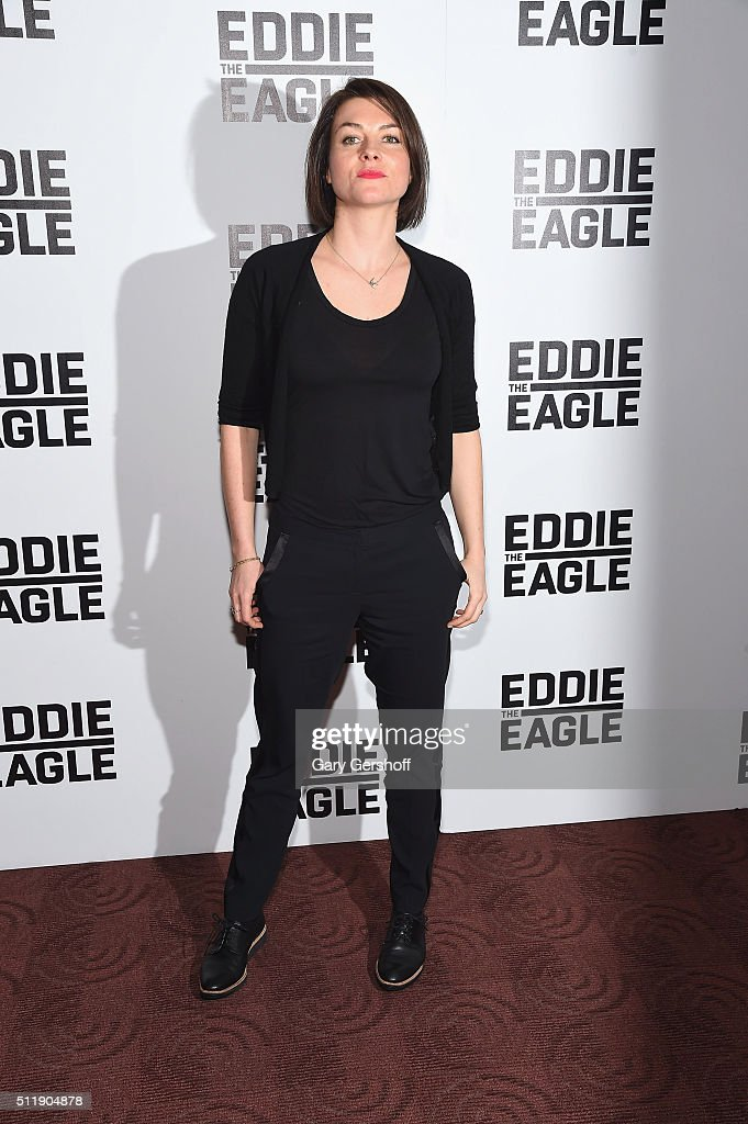 Actress Holly Davidson attends the 'Eddie The Eagle' New York screening at Chelsea Bow Tie Cinemas on February 23, 2016 in New York City.