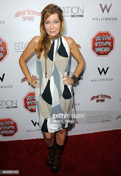 Actress Holly Fields arrives at W Hotel Station Club's Annual Emmy Party held at W Hollywood on August 23 2014 in Hollywood California
