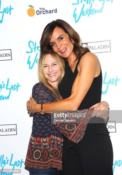 Actress Holly Hunter and director Polly Draper attend 'Stella's Last Weekend' New York Premiere at Angelika Film Center on October 8 2018 in New York...