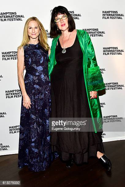 Actress Holly Hunter and film director Katherine Dieckmann attend the SH Oppening Party during the Hamptons International Film Festival 2016 at...
