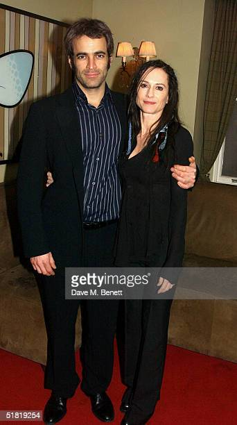 "Actress Holly Hunter and Gordon MacDonald attend the ""By The Bog Of Cats"" UK Premiere and Press Night at Wyndham's Theatre on December 2, 2004 in..."