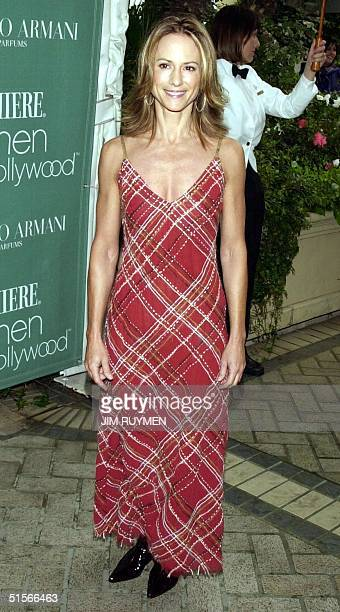 Actress Holly Hunter arrives 11 October 2000 at Premiere magazine's 7th annual Women in Hollywood luncheon honoring Drew Barrymore Hunter Amanda Peet...