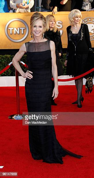 Actress Holly Hunter arrives at the 16th Annual Screen Actors Guild Awards held at the Shrine Auditorium on January 23, 2010 in Los Angeles,...