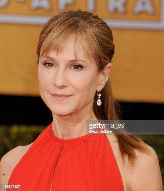 Actress Holly Hunter arrives at the 20th Annual Screen Actors Guild Awards at The Shrine Auditorium on January 18 2014 in Los Angeles California