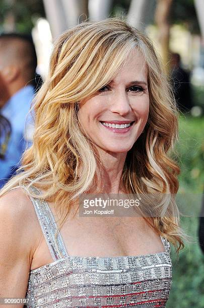 Actress Holly Hunter arrives at the 61st Primetime Emmy Awards held at the Nokia Theatre LA Live on September 20 2009 in Los Angeles California