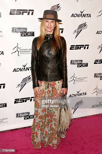 Actress Holly Hunter arrives on the Playtex Sport Pink Carpet at the Women's Sports Foundation's 28th Annual Salute to Women in Sports at the...
