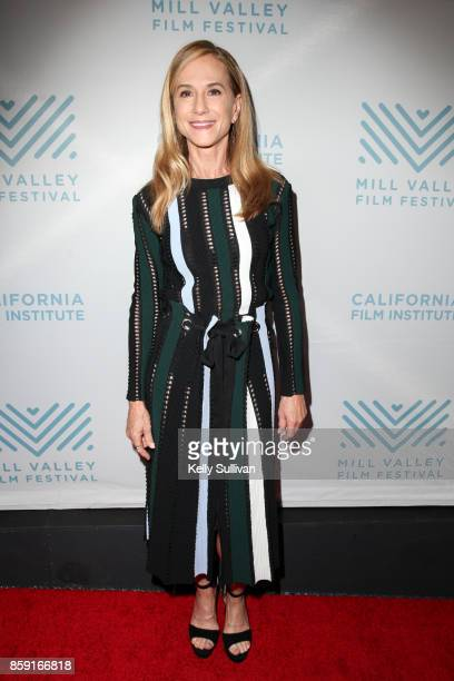 Actress Holly Hunter arrives on the red carpet for the 40th Mill Valley Film Festival Tribute to Holly Hunter at the Christopher B Smith Rafael Film...
