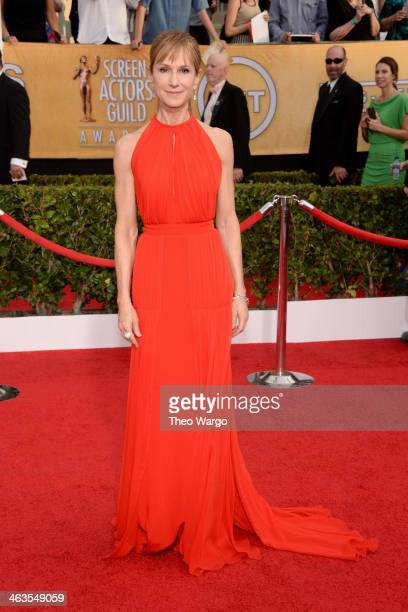 Actress Holly Hunter attends 20th Annual Screen Actors Guild Awards at The Shrine Auditorium on January 18 2014 in Los Angeles California