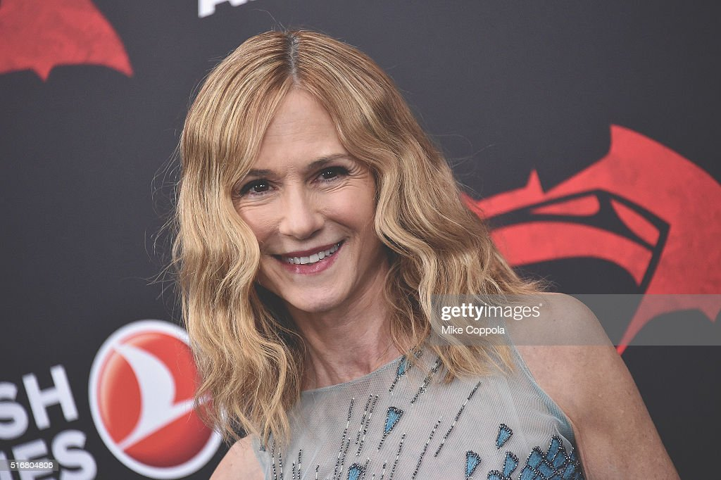 Actress Holly Hunter attends The 'Batman V Superman: Dawn Of Justice' New York Premiere at Radio City Music Hall on March 20, 2016 in New York City.