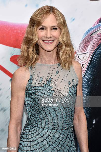 Actress Holly Hunter attends the launch of Bai Superteas at the 'Batman v Superman Dawn of Justice' premiere on March 20 2016 in New York City