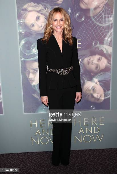 Actress Holly Hunter attends the premiere of HBO's 'Here and Now' at the Directors Guild of America on February 5 2018 in Los Angeles California