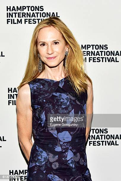 Actress Holly Hunter attends the SH Oppening Party during the Hamptons International Film Festival 2016 at Southampton Union Cantina on October 7...