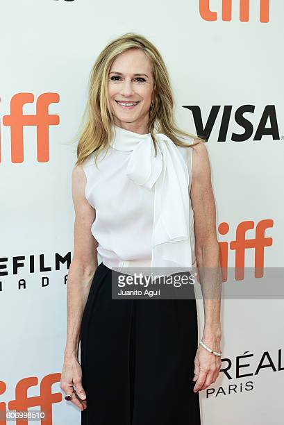 Actress Holly Hunter attends the 'Strange Weather' premiere during the 2016 Toronto International Film Festival at Roy Thomson Hall on September 16...