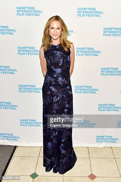 Actress Holly Hunter attends the Strange Weather Screening during The Hamptons International Film Festival 2016 at Southampton Cinema 1 on October 7,...