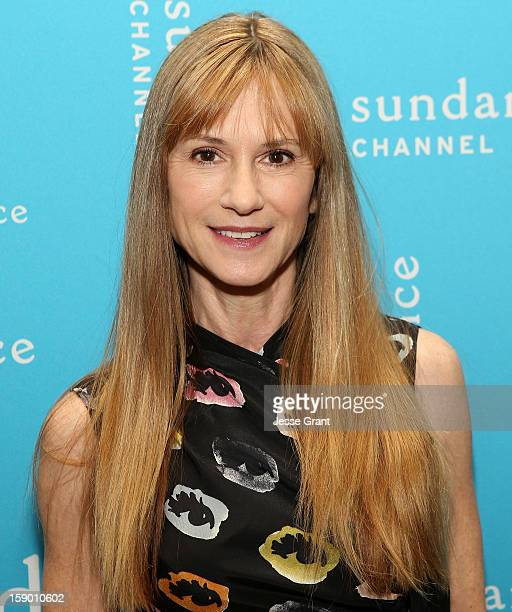 Actress Holly Hunter attends the Sundance Channel 2013 Winter TCA Panel at The Langham Huntington Hotel and Spa on January 5 2013 in Pasadena...