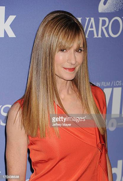 Actress Holly Hunter attends Women In Film's 2013 Crystal Lucy Awards at The Beverly Hilton Hotel on June 12 2013 in Beverly Hills California