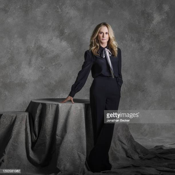 Actress Holly Hunter poses for a portrait at the Savannah Film Festival on October 28, 2017 at Savannah College of Art and Design in Savannah,...
