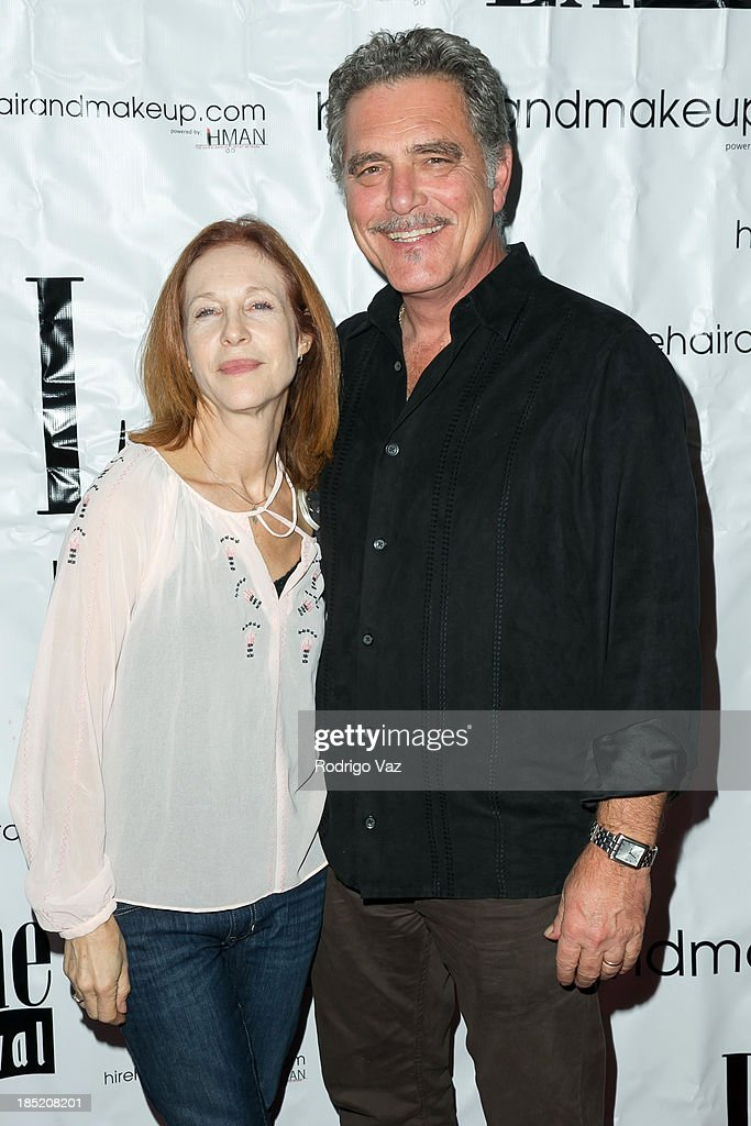 Actress Holly Kaplan (L) and artist Richard Gasparian attend the 9th Annual La Femme International Film Festival opening night gala premiere 'Psycho Circus' at The Renberg Theatre on October 17, 2013 in Los Angeles, California.