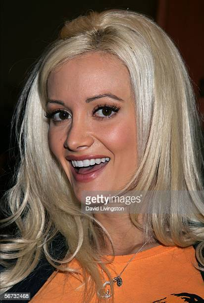 Actress Holly Madison from the E Network show 'The Girls Next Door' attends the grand unveiling of the new Fox Films Icons apparel line at the Lisa...