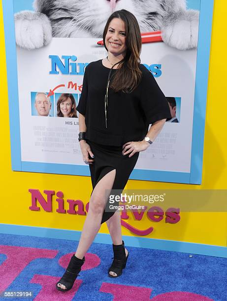 Actress Holly Marie Combs arrives at the premiere of EuropaCorp's 'Nine Lives' at TCL Chinese Theatre on August 1 2016 in Hollywood California