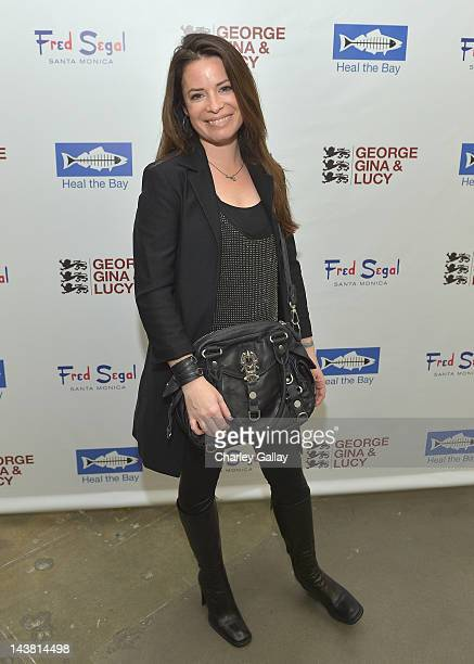 Actress Holly Marie Combs attends GEORGE GINA LUCY'S Originals Collection launch benefiting Heal The Bay at Fred Segal Santa Monica on May 3 2012 in...
