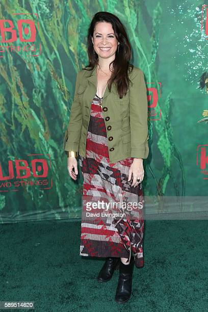Actress Holly Marie Combs attends the premiere of Focus Features' 'Kubo and the Two Strings' at AMC Universal City Walk on August 14 2016 in...