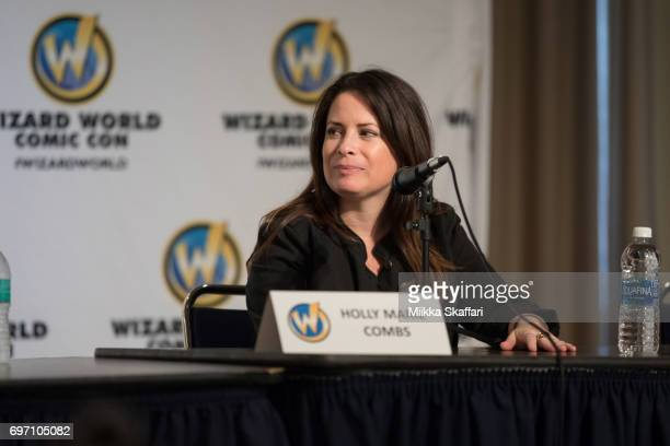 Actress Holly Marie Combs talks during The Charmed Life A conversation with Holly Marie Combs and Brian Krause session at Sacramento Convention...