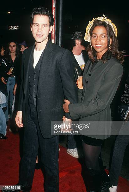 Actress Holly Robinson and actor Brian Robbins attending 'MTV's Trip With The Doors' on February 23 1991 at the Whisky in Hollywood California