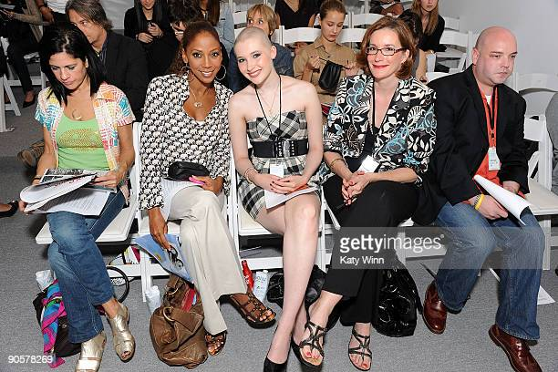 Actress Holly Robinson celebrity trainer Ashley Conrad and her mother Gail attend the AXE Instinct Sponsored Duckie Brown Spring 2010 Fashion Show at...