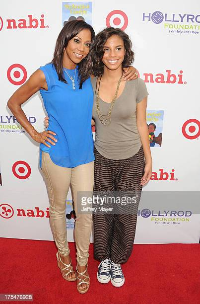 Actress Holly Robinson Peete and daughter Ryan Elizabeth Peete arrive at HollyRod Foundation's 4th Annual 'My Brother Charlie' Carnival at Culver...