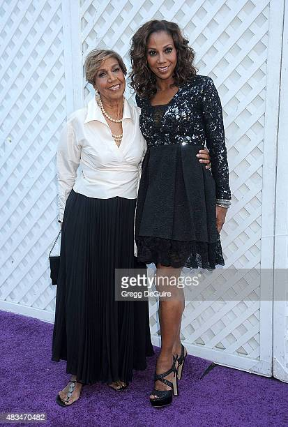 Actress Holly Robinson Peete and Dolores Robinson arrive at HollyRod Foundation's 17th Annual DesignCare Gala at The Lot Studios on August 8 2015 in...