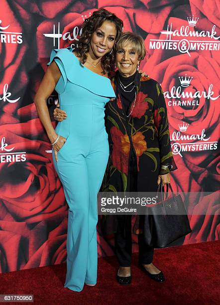 Actress Holly Robinson Peete and mom Dolores Robinson arrive at Hallmark Channel And Hallmark Movies And Mysteries Winter 2017 TCA Press Tour at The...