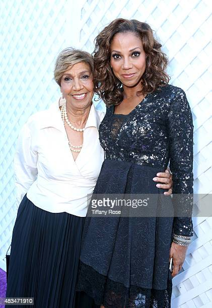 Actress Holly Robinson Peete and mom Dolores Robinson attend the HollyRod Foundation's 17th annual DesignCare Gala at The Lot Studios on August 8...