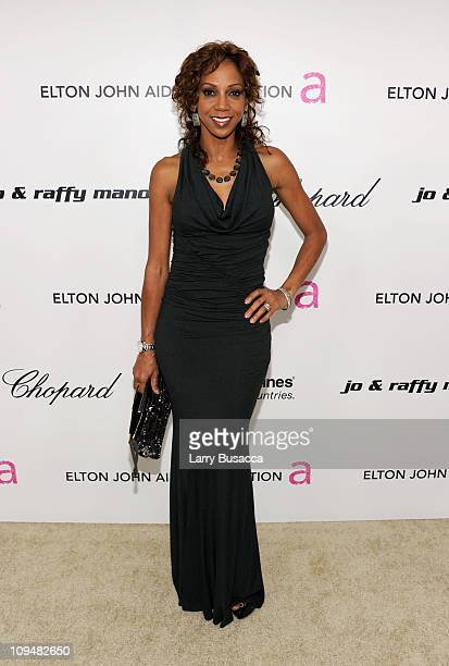 Actress Holly Robinson Peete arrives at the 19th Annual Elton John AIDS Foundation Academy Awards Viewing Party at the Pacific Design Center on...