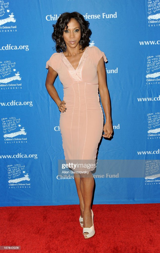 Actress Holly Robinson Peete arrives at the Chrildren's Defense Fund of California 22nd Annual Beat The Odds Awards at Beverly Hills Hotel on December 6, 2012 in Beverly Hills, California.