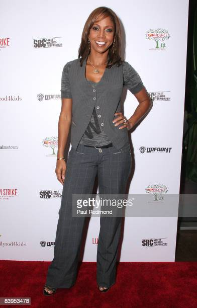 Actress Holly Robinson Peete attends Children's Holiday Bowl and Toy Drive benefiting the Children of South LA's youth center A Place Called Home...