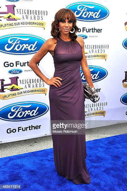 Actress Holly Robinson Peete attends the 2014 Ford Neighborhood Awards Hosted By Steve Harvey at the Phillips Arena on August 9 2014 in Atlanta...