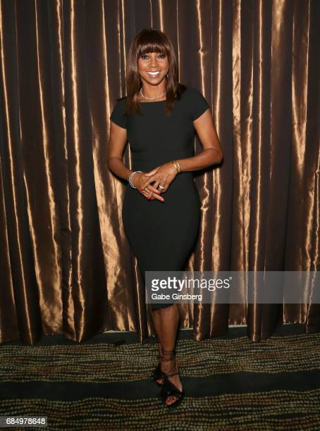 Actress Holly Robinson Peete attends the 2017 Personal Managers Hall of Fame induction ceremony at the Downtown Grand Hotel Casino on May 18 2017 in...